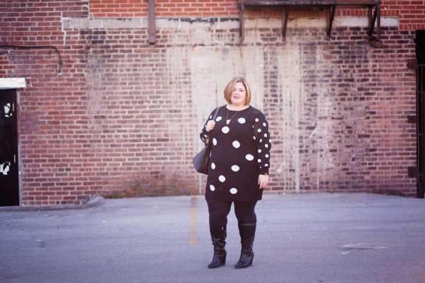 Emmie in a Carmakoma Dress from Gwynnie Bee