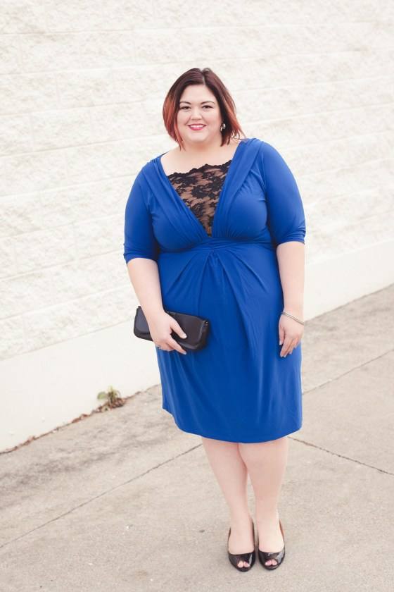 Kiyonna Signature Lace Cocktail Dress from Gwynnie Bee