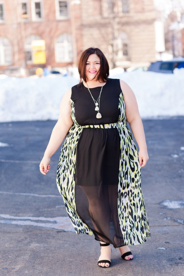 Authentically Emmie in a Simply Be Dress and Shoes