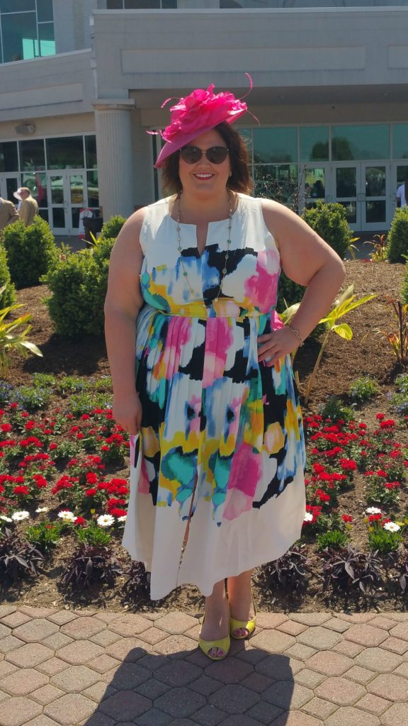 Emmie in Lela Rose for Lane Bryant at the Kentucky Oaks