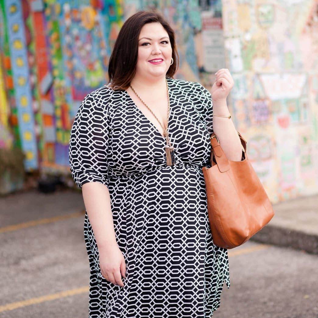 Kiyonna Essential Wrap Dress on Authentically Emmie