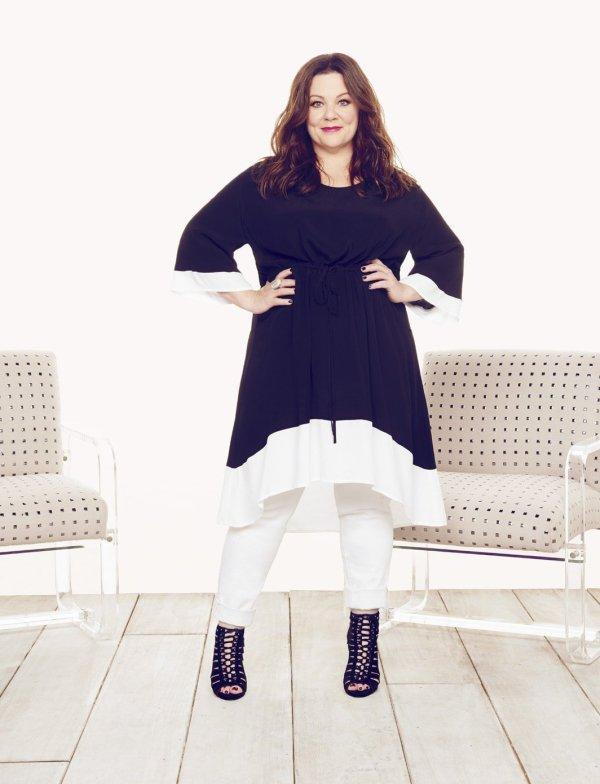 Melissa McCarthy Seven7 Colorblock Hi-Low Dress