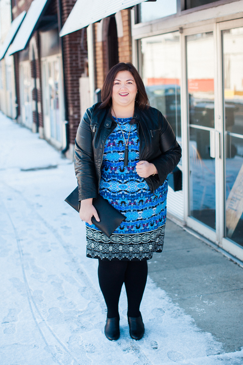 Authentically Emmie in a #plussize dress from Gwynnie Bee subscription