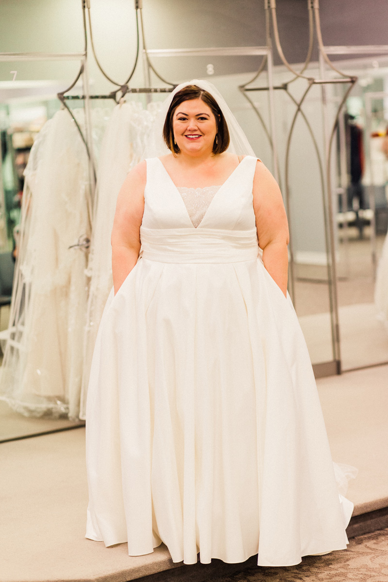 Plus size wedding dress shopping with david 39 s bridal for Plus size after wedding dress