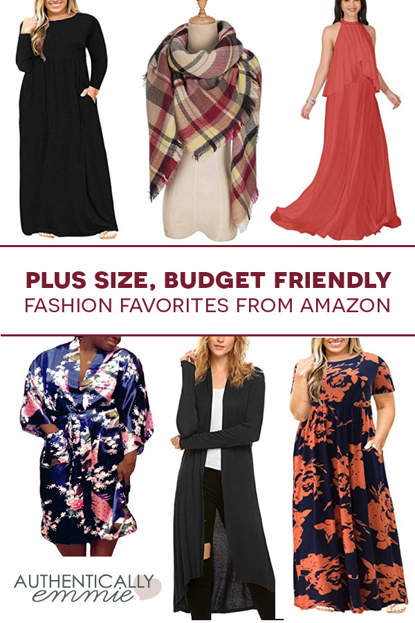 Some great affordable plus size fashion finds from #plussize blogger Authentically Emmie. All items are good for those on a budget, and these are particularly great for fall fashion. #curvygirl #curvy #ootd #style