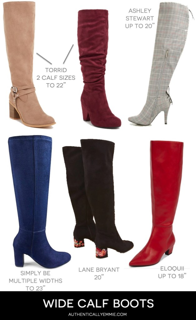 wide calf and extra wide calf boots