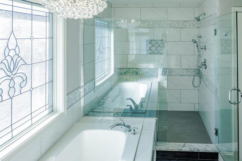 master bathroom tile from floor decor