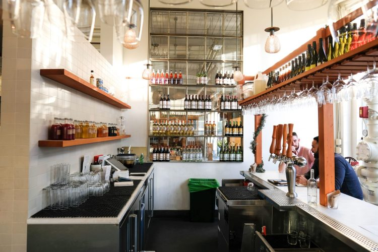 Bar area in Tartine Manufactory in San Francisco