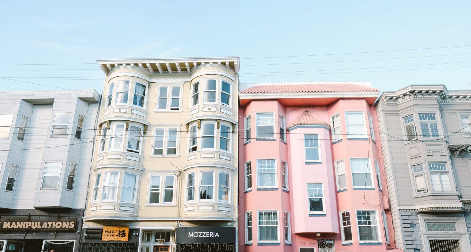 pastel homes in San Francisco