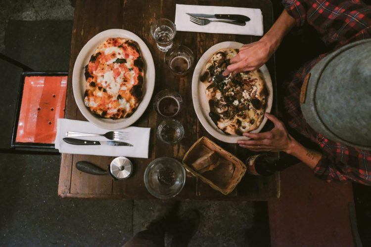 two pizzas from Montesacro Pinseria in San Francisco