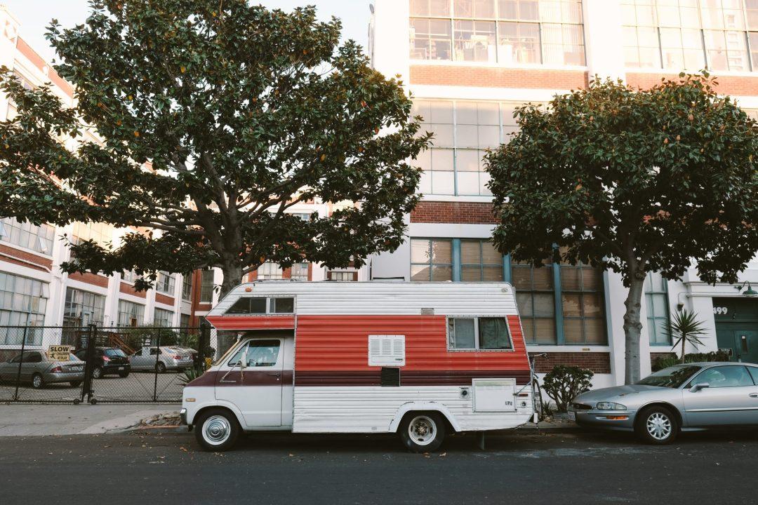 Vintage Dodge camper in San Francisco