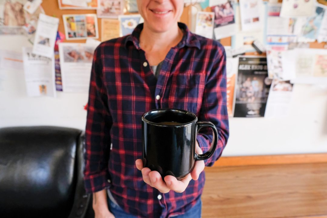 Caroline Whatley in Odd's Cafe