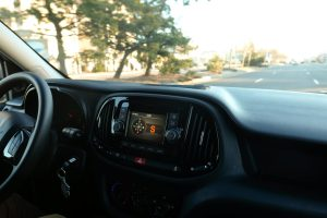 View of the dash in the Ram ProMaster Van