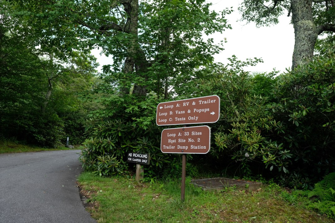 Sign at the Mount Pisgah Campground