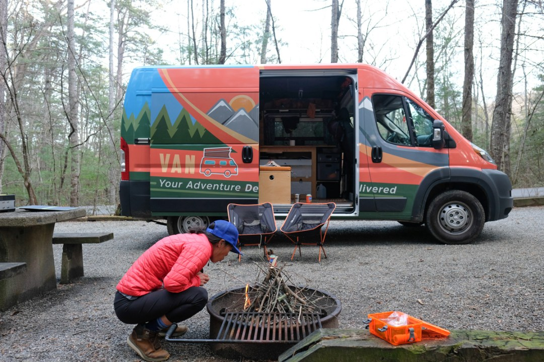 van life adventure in Asheville with sCAMPer vans