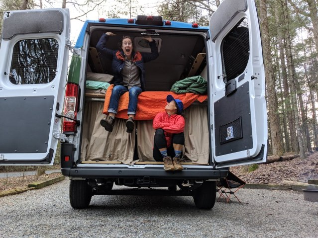 van life adventure in Asheville with sCAMPer vans