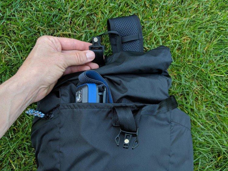 CamelBak Pivot Roll Top Backpack magnetic closure