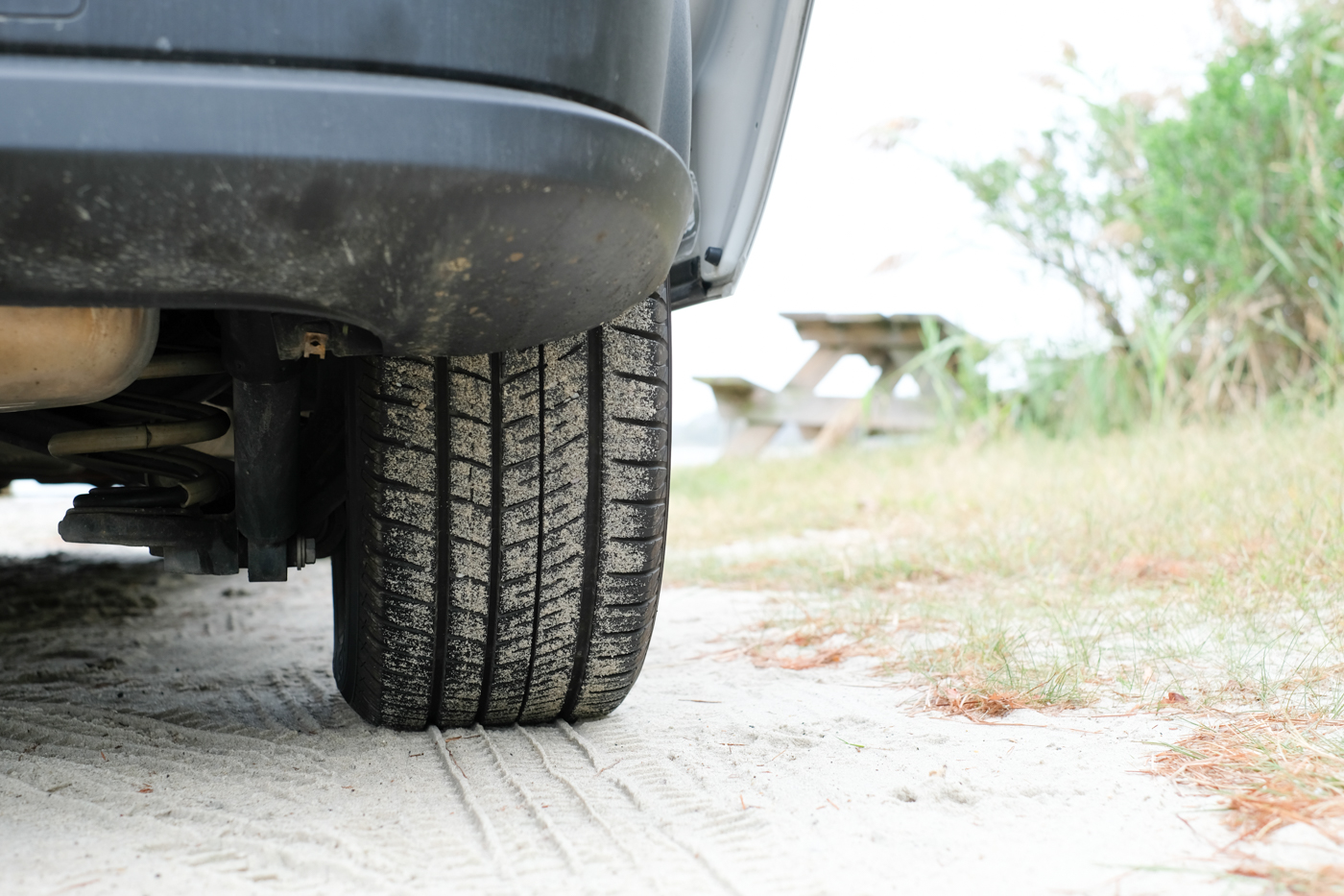 close up photo of the rear tire on the Ram Promaster City