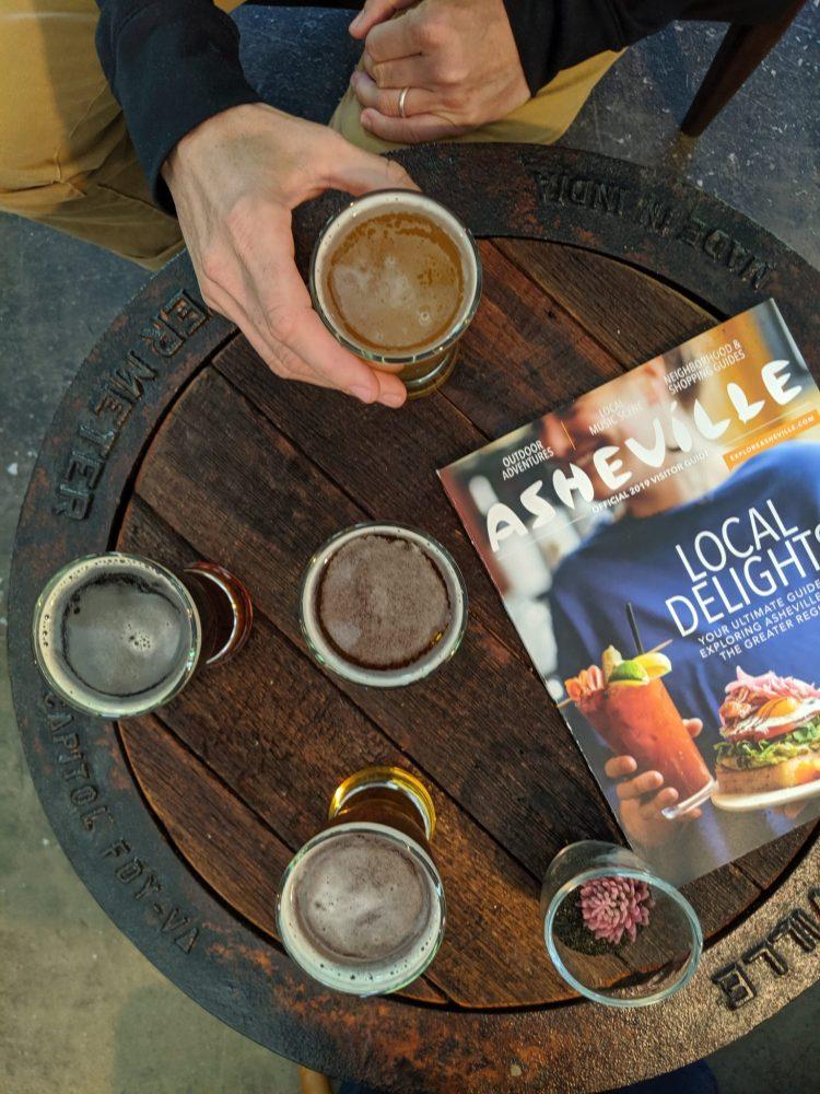 beer flight in Asheville
