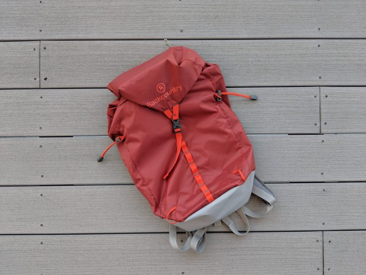 Photo of the top view of the Backcountry 22L Daypack