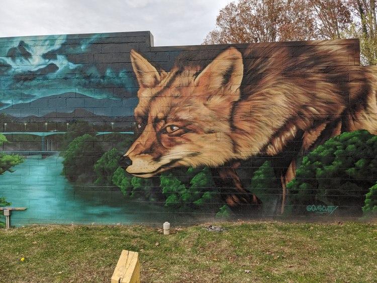 Best Instagram Spots in Asheville: West Asheville fox mural by Gus Cutty