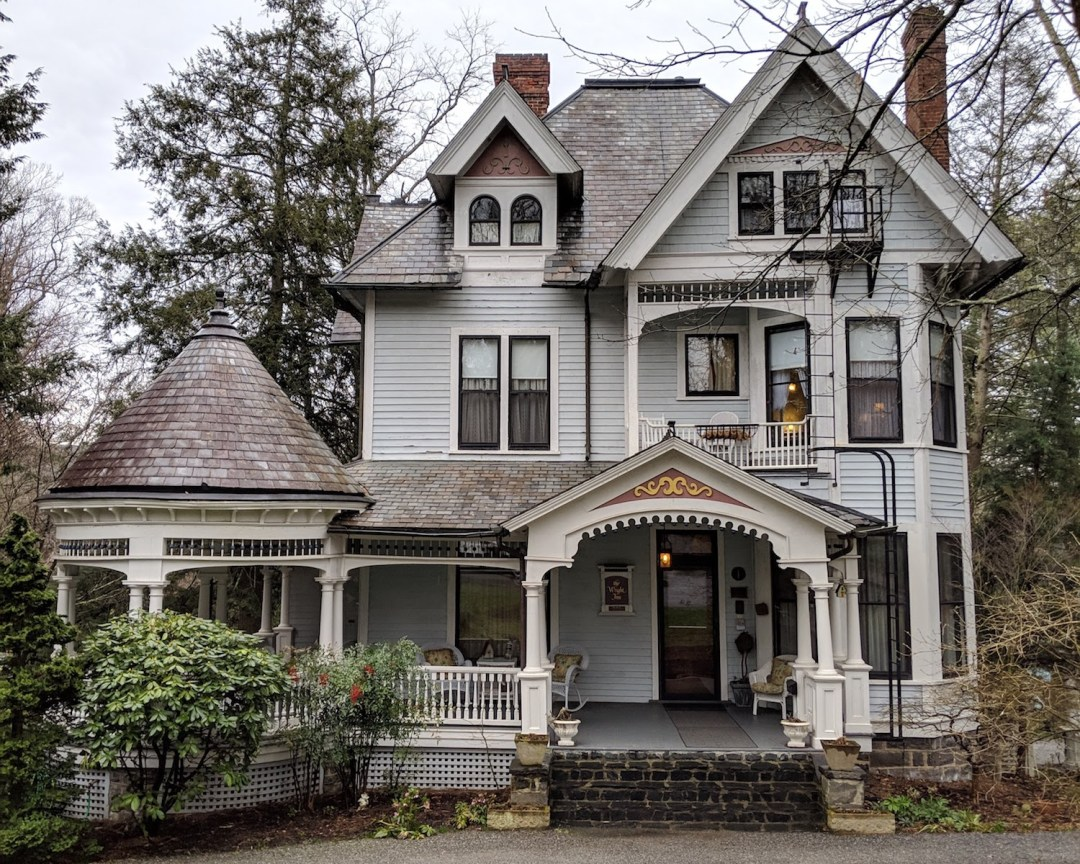 an historic home in the neighborhood called Montford in Asheville, NC.
