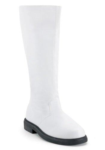 Funtasma Men's Captain-100/W/PU Knee-High Boot,White Polyurethane,13 M US