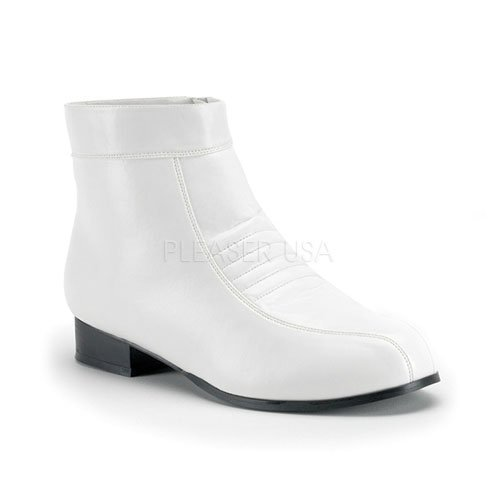 Funtasma by Pleaser Men's Halloween Pimp-50,White,S (US Men's 8-9 M)