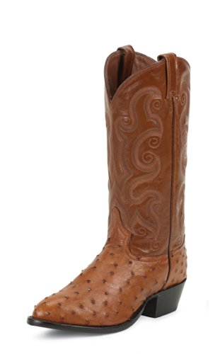Tony Lama Men's Full Quill Ostrich Western Boots Medium Toe Peant Brtl 10.5 D(M) US