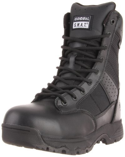 Original S.W.A.T. Men's Metro 9 Inch Waterproof Side-zip Safety Tactical Boot, Black, 9.5 D US