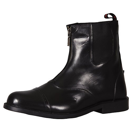 TuffRider Men's Barouque Front Zip Paddock Boots with Metal Zipper, Mocha, 10
