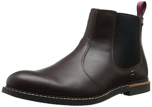 Timberland Men's EK Brook Park Chelsea Boot,Red/Brown Smooth,9.5 M US
