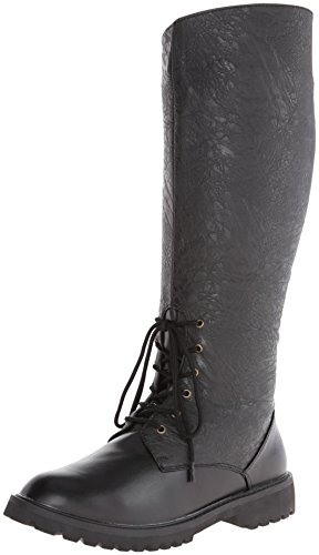 Funtasma Men's Gotham-103 Engineer Boot, Black Polyurethane/Black Distressed Polyurethane, Small/8-9 M US