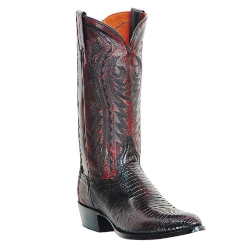 Dan Post Men's Teju Lizard Western Boot Medium Toe Blk Cherry 12 D(M) US