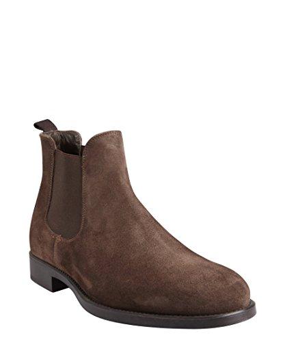 Suede Beatles Chelsea Boots Dark Brown 8