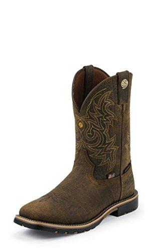 Justin Western Boots Mens George Strait Crazy Horse 8 D Bark GS9050