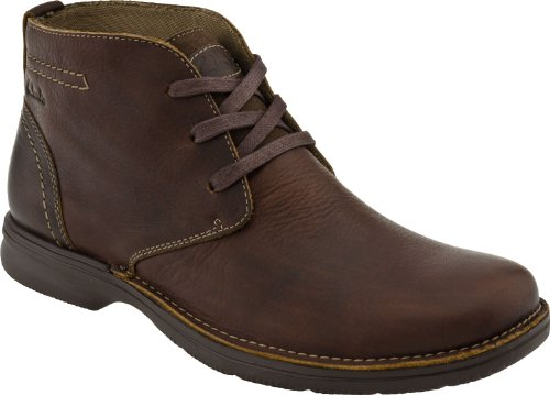 Clarks Men's Senner Ave Boot,Brown Tumbled Leather,9 M US