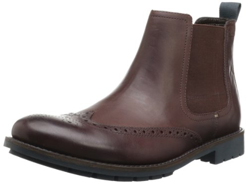 Clarks Men's Garnet Hi Boot,Chestnut Leather,9.5 M US