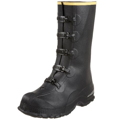 LaCrosse Men's 14″ 5-Buckle Premium Deep Heel Overshoe,Black,14 M US