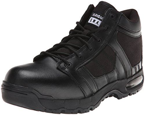 Original S.W.A.T. Men's Metro Air 5 Inch Side-zip Safety Tactical Boot, Black, 12 2E US