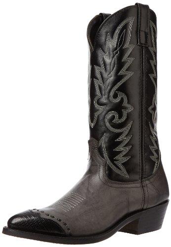 Laredo Men's Flagstaff Western Boot,Grey/Black,11 D US