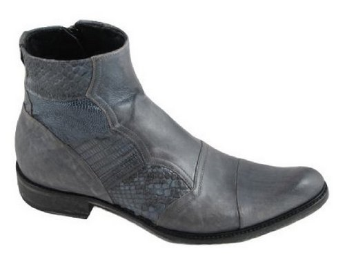 Joe Ghost 1750 Men's Italian Dressy Pointy Toe Ankle Boot Python/Montalcino Grey, Size 46