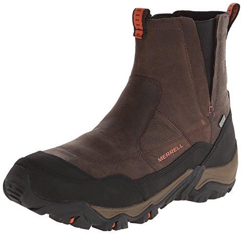 Merrell Men's Polarand Rove Pull Waterproof Winter Boot,Black Slate,9 M US