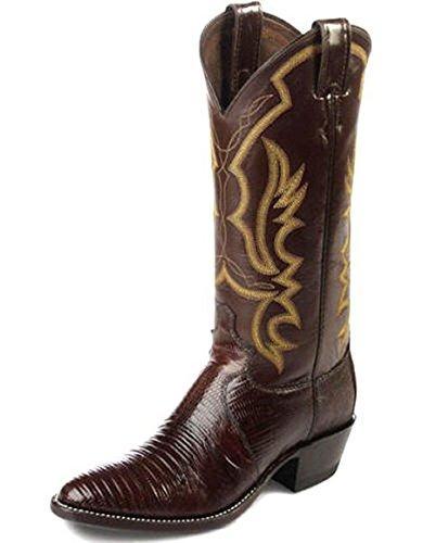 Justin Mens 8308 Chocolate Iguana Lizard Exotic Boots 9.5B Made In USA