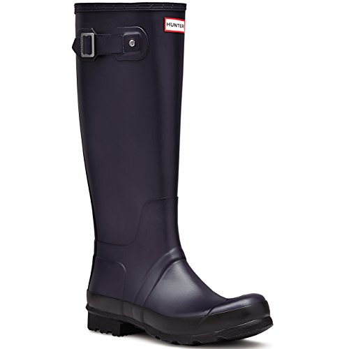 Mens Hunter Original Tall Two Tone Wellington Snow Waterproof Rain Boots – Midnight – 8 – 40/41
