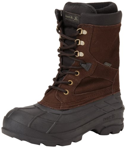 Kamik Men's Nationplus Snow Boot,Dark Brown,8 M US