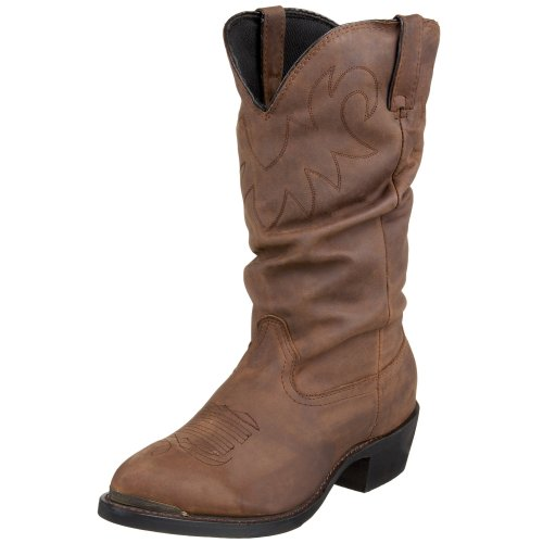 Durango Men's SW542 13″ Slouch Western Boot,Distressed Tan,10.5 M US