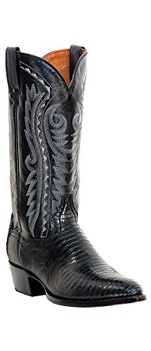 Dan Post Men's Teju Lizard Western Boot Medium Toe Black 10 EE US