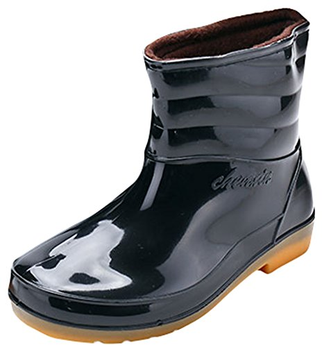 Ace Men's Waterproof Anti-skid Mid-calf Pull-on Work Boots Rain Boot (8)