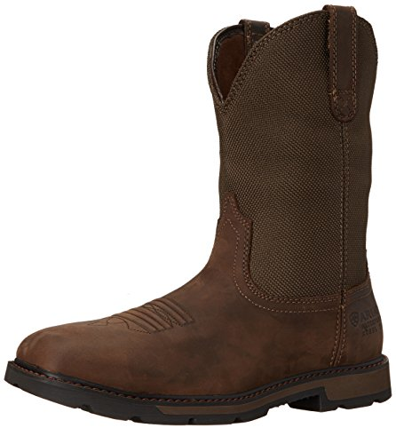 Ariat Men's Groundbreaker Square Toe H2O Steel Toe Work Boot,  Palm Brown/Ballistic Brown,  12 M US